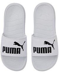 PUMA Popcat 20, Chaussures de Plage & Piscine Mixte Adulte - Blanc