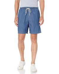 Amazon Essentials Short de Marche avec Cordon de Serrage 22,9 cm. Athletic - Bleu
