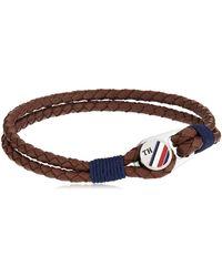 Tommy Hilfiger Acier n'est Pas Applicable Bracelets en Corde - Marron