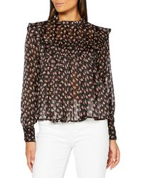 Scotch & Soda - Printed Floral Top in Drapey Quality Camicia - Lyst