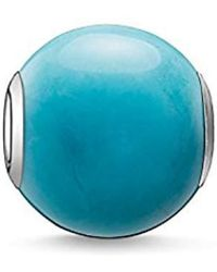 Thomas Sabo - -bead Karma Beads 925 Sterling Silver Treated Howlite Polished Turquoise K0035-589-17 - Lyst