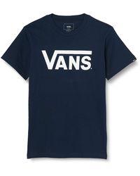 Vans Herren Classic T - Shirt, Blau (Navy/white), Large - Azul