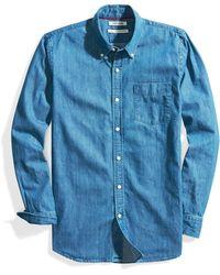 Goodthreads Standard-fit Long-sleeve Denim Shirt Shirt - Blue