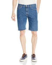 Levi's 505 Regular Fit Short, Medium Stonewash, 38 - Blue