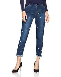 5fcedff3f36567 Pilcro Script High-rise Pearl Skinny Jeans in Blue - Lyst