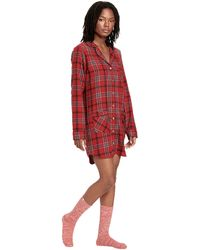 UGG Laura Sleep Dress And Sock Set - Red
