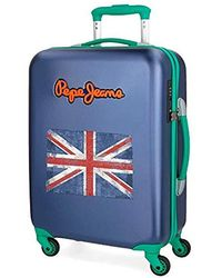 Pepe Jeans Bristol Hand Luggage, 55 Centimeters - Blue