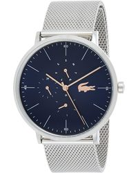 Lacoste 35mm Blue Leather Band Steel Case Quartz Analog Watch 2001071