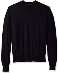 Armani Exchange - | Long Sleeve Crew Neck Pullover Knit Reg Fit - Lyst