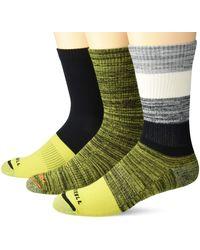 Merrell Womens Cushioned Hiker Crew 3 Pair Casual Sock - Multicolour