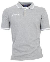 Asics S Team Line Sports Polo Shirt Grey