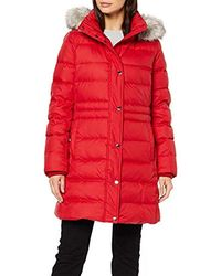 Tommy Hilfiger New Tyra Down Coat - Red