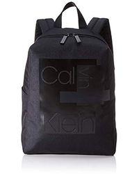 Calvin Klein Layered Round Backpack - Shoppers y bolsos de hombro Hombre - Negro