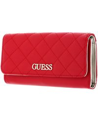 Guess Illy SLG Pocket Trifold Red - Rouge
