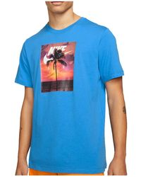 Nike Spring Break Photo T-Shirt - Blau