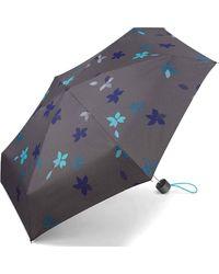 Esprit Mini ombrello con motivo floreale monocromo Taglia unica - Blu