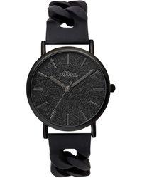 S.oliver Time Erwachsene Armbanduhr SO-3399-PQ - Schwarz