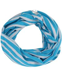 Regatta S/ladies Shaila Coolweave Cotton Strip Jersey Scarf - Blue