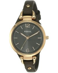 Fossil Analog Quartz Watch With Stainless Steel Strap Es3466 - Multicolor