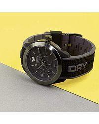 Superdry Reloj Analógico para Hombre de Cuarzo con Correa en Silicona SYG215EB - Negro