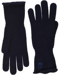 Benetton Guanti Gloves And Mittens - Blue