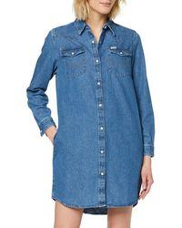 Wrangler Shirt Dress - Blue