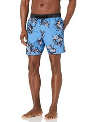 Volcom Standard 17-inch Elastic Waist Surf Swim Trunks - Blue