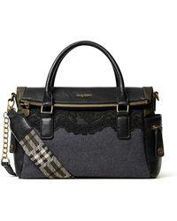 Desigual Accessories Fabric Hand Bag - Nero