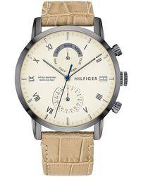 Tommy Hilfiger Reloj Analógico para Hombre de Cuarzo con Correa en Cuero 1710399 - Neutro