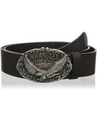 Wrangler Ctf Eagle Buckle Belt - Black