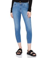 Wrangler Crop Skinny Jeans - Blue