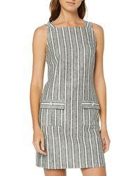 Dorothy Perkins Striped Linen Shift Dress - Black