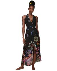 Desigual Dress Swimwear Magda Woman Black Robe - Noir
