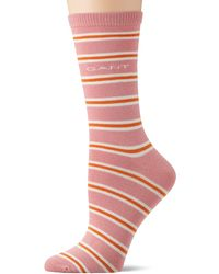 GANT D1. Striped Sock Calf - Pink