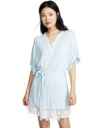 Splendid Bridal Robe Pajama Coverup Pj - Blue