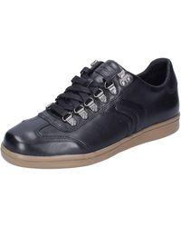 Geox Sneakers Leder schwarz 39 EU