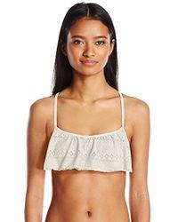 fb983d9c49 Roxy - Drop Diamond Flutter Fashion Bikini Top - Lyst