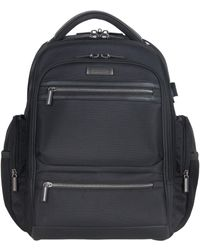 """Kenneth Cole Reaction Dual Compartment 17"""" Laptop Backpack With Usb - Black"""