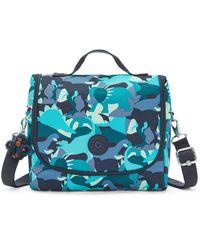 Kipling New Kichirou Printed Lunch Bag Dino Print - Blue