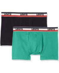 Levi's 200sf Sprtswr Logo Colour Boxer Brief 2p Shorts - Green