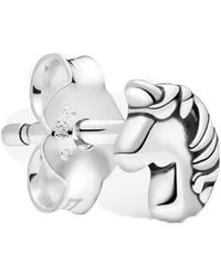 PANDORA My Magic Unicorn Single Stud Earrings - Metallic