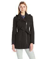 Vince Camuto - Water Repellent Belted Trench Coat - Lyst