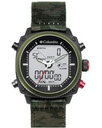 Columbia Ridge Runner Stainless Steel Quartz Watch With Nylon Strap - Multicolour