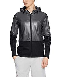 20b6c43fd Under Armour Unstoppable Double Knit Bomber Jacket in Black for Men ...