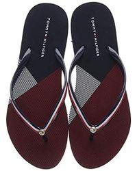 Beach Stripe Multicolore Femme Sandal Flat PrintSalomés vmPynw0N8O