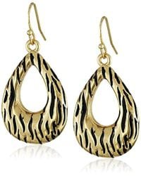 Kensie - Textured Open Teardrop Earrings - Lyst