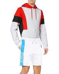 Calvin Klein Stripe Institutional HWK Short Shorts - Bianco
