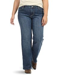 17300216b73 Lyst - Wrangler  s Plus Size Instantly Slimming Mid Rise Jean in ...