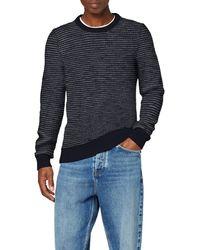 Tommy Hilfiger HONEYCOMB SLUB SWEATER Sweatshirt - Blau
