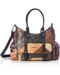 Desigual Accessories PU Shoulder Bag - Marrón